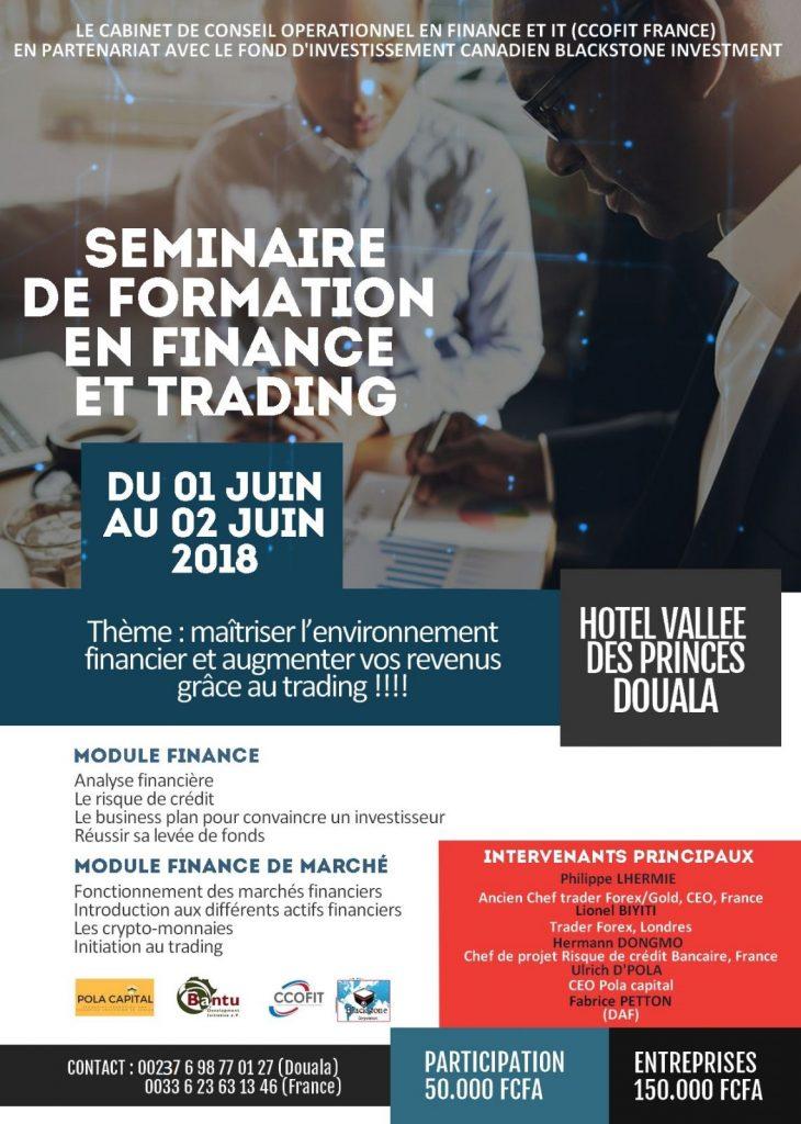 seminaire de formation en finance et trading douala